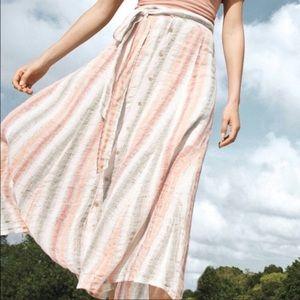 Trigene Linene Sun Striped Skirt
